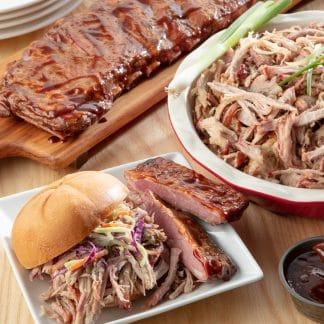 Smoked Pulled Pork and Ribs