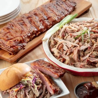 Smoked Pulled Pork and Pork Ribs