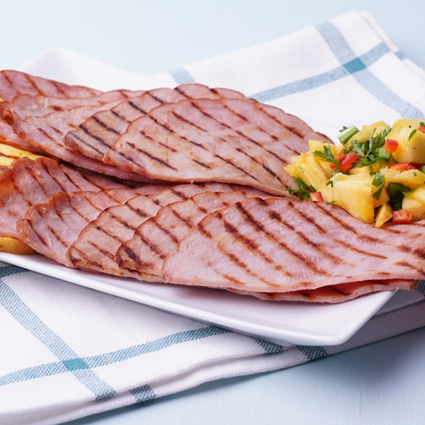 Grilled Country Ham Slices